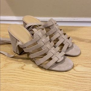 BOGO 1/2 - Marc Fisher Lace Up Heeled Sandals